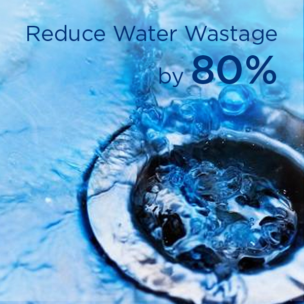 Reduce water wastage by 80%.
